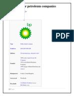 Major Petroleum Companies