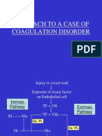 Approach to a Case of Coagulation Disorder
