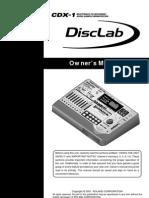 Manuel utilisateur Roland CDX-1