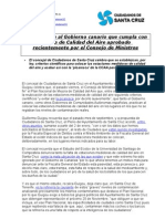 Nota de prensa 7/11/2011 Consejo de Ministros Plan Calidad Aire