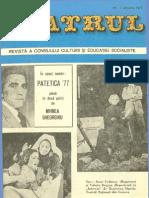 Revista Teatrul, nr. 1, anul XXII, ianuarie 1977