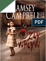 """Ramsey Campbell, """"Zły wpływ"""", Wydawnictwo Replika 2011"""