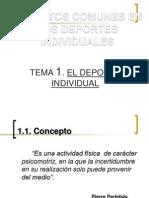 Tema 1. Deporte Individual