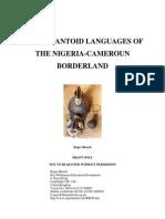Ekoid- Bantu Languages of the Nigeria-Cameroun Borderland