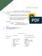 Cv Zaini SEPT, 2011 Official)