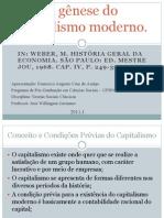 Seminário - A gênese do capitalismo moderno
