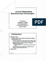 Advanced Shipbuilding Manufacturing Technologies