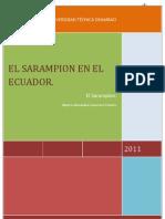 El Sarampion en El Ecuador 4