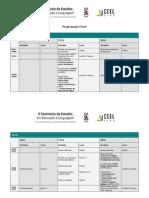 Programação Detalhada do V Seminário de Estudos em Educação e Linguagem