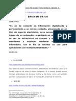 Bases de Datos, Repositorios y Patentes Sistematizados