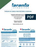 TARANTO Manual de Torques Gasolina