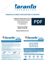 TARANTO Manual de Torques Gasolina