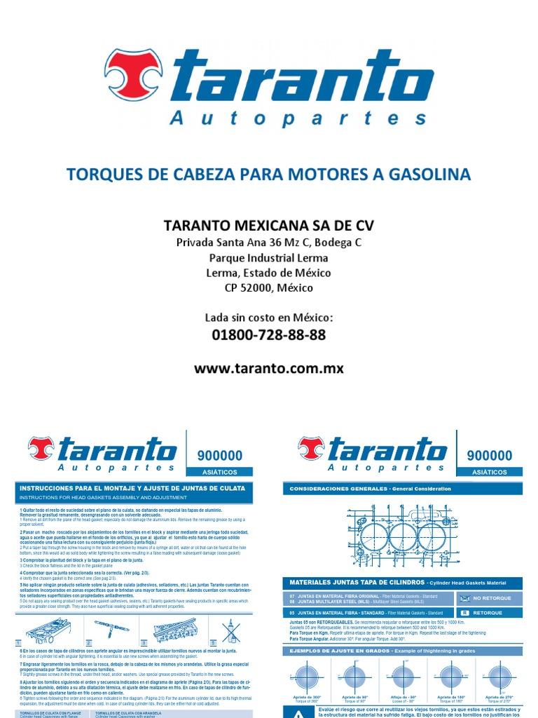 Taranto manual de torques gasolina fandeluxe Image collections