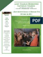 October 16, 2011 Bulletin