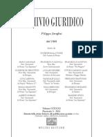 Indice, abstracts, recensioni - Archivio Giuridico n. 3|2011