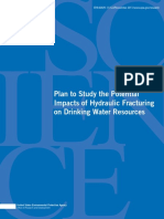 EPA Plan to Study the Potential Impacts of Hydraulic Fracturingon Drinking Water Resources November 2011