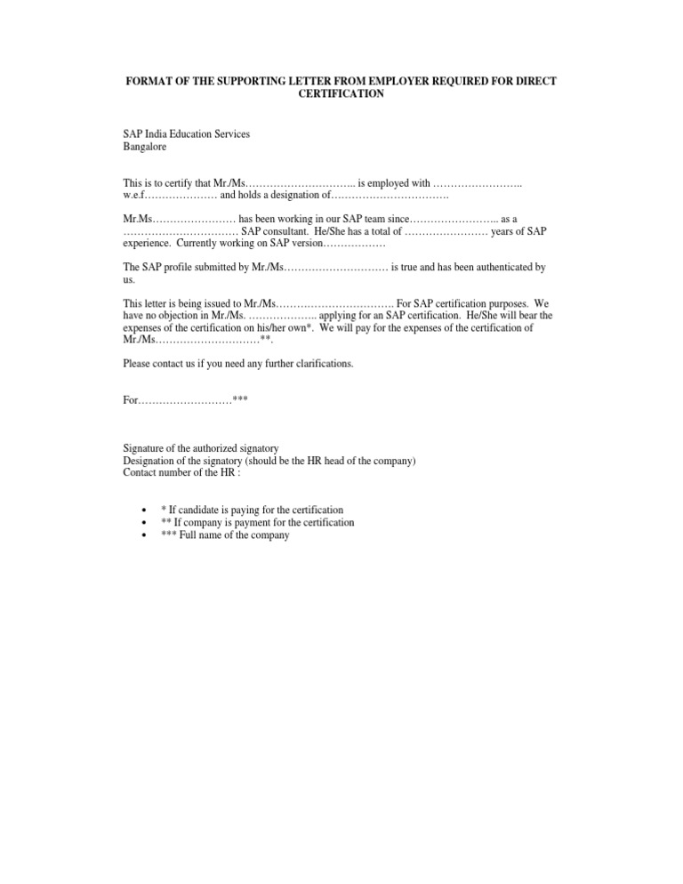 Doc12751650 No Objection Letter from Company Doc7281032 – Sample of No Objection Letter from Employer
