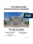 NY State Senate Minority Finance Committee 2011 Mid Year Budget Report