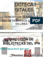 Presentacion bibliotecas Digitales