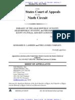 Ninth Circuit Egypt Sovereign ImmunityOpening Brief Lasheen