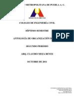 CARÁTULA ORGANIZACIÓN DE OBRAS II