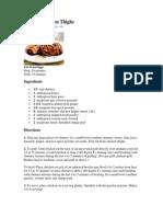Chicken Recipe 2