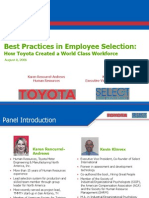 Best Employee Selection Practices Followed by Toyota 141