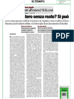 Il Tempo di Roma 4 Novembre 2011