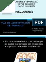 VIAS DE ADMINISTRACIÓN DE FARMACOS