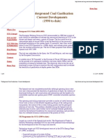 Underground Coal Gasification Current Developments