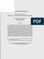 Merleau Ponty - Prologo a La Fenomenologia de La Percepcion