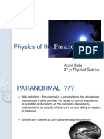 Physics of the Paranormal