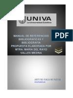 MANUAL DE REFERENCIAS BIBLIOGRÁFICAS Y BIBLIOGRAFÍA