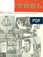 Revista Teatrul, nr. 8, anul XXIII, august 1978