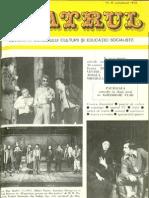Revista Teatrul, nr. 10, anul XXIII, octombrie 1978