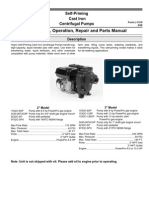Cast Iron Transfer Pump Operation Manual