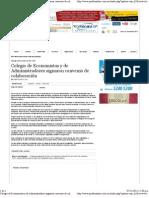 30-10-11 Colegio de Economistas y de Administradores signaron convenio de colaboración