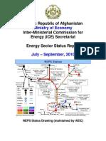 Energy Sector Status Report July September 2010