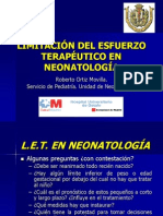 Limitación esfuerzo terapéutico neonatología