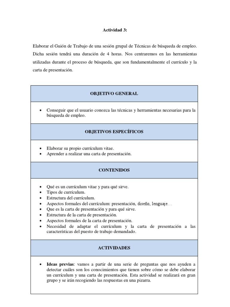 actividad 3_sesion de formacion curriculum y carta de presentacion