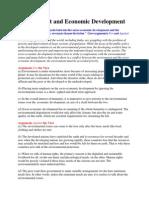 Environment and Economic Development