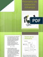 Pirómetro de  radiación infrarroja