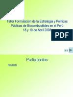 CEPAL-MINEM PERU,Tablero de Comando vModificada en El Taller-DOCUMENTO de TRABAJO-Abril2008