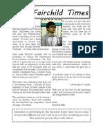 Fairchild Hall Newsletter - November, 2011