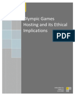 Olympic Games Hosting and Its Ethical Implications