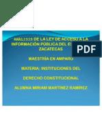 ANALISIS DE LA LEY DE ACCESO A LA INFORMACIÓN PÚBLICA DEL EDO. DE  ZACATECAS