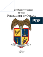 Society Constitution of the Parliament of Oceana