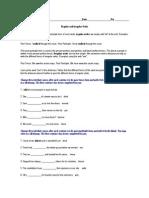 10 - Verb Worksheet