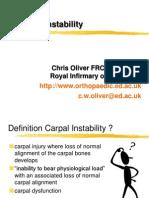 Carpal Instability