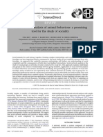 Social Network Analysis of Animal Behaviour a Promising